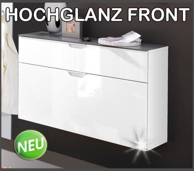 neu schuhschrank hochglanz weiss schuhkipper schuhkommode h ngend garderobe ebay. Black Bedroom Furniture Sets. Home Design Ideas