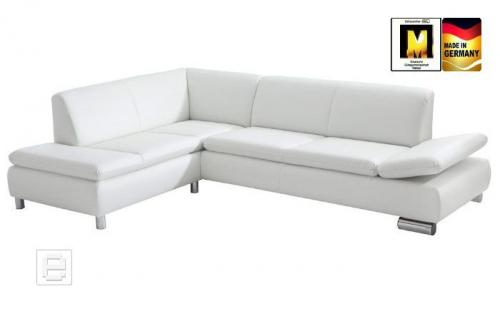 design ecksofa eckcouch rundecke sofa leder weiss neu ebay. Black Bedroom Furniture Sets. Home Design Ideas
