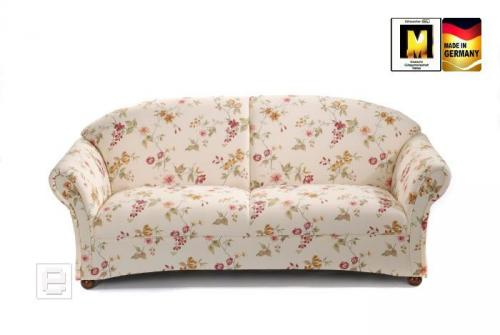 edles 2er sofa im floralen design couch 2er sitzer blumenmuster wohnzimmer ebay. Black Bedroom Furniture Sets. Home Design Ideas