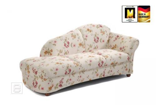 edle recamiere sofa chaiselongue im floralen muster couch wohnzimmer 2er sitzer ebay. Black Bedroom Furniture Sets. Home Design Ideas