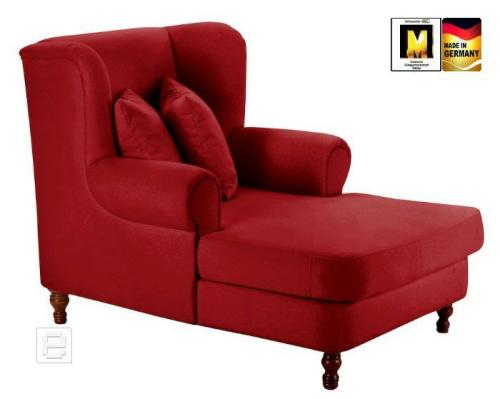 neu mega sessel ohrensessel velours rot zierkissen relaxsessel fernsehsessel ebay. Black Bedroom Furniture Sets. Home Design Ideas