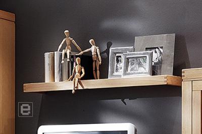 neu wohnwand wandregal buche massiv ge lt regal b cherregal regalboden ebay. Black Bedroom Furniture Sets. Home Design Ideas