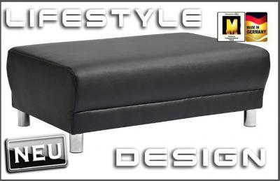 neu design leder sofa hocker polsterhocker 140cm top ebay. Black Bedroom Furniture Sets. Home Design Ideas