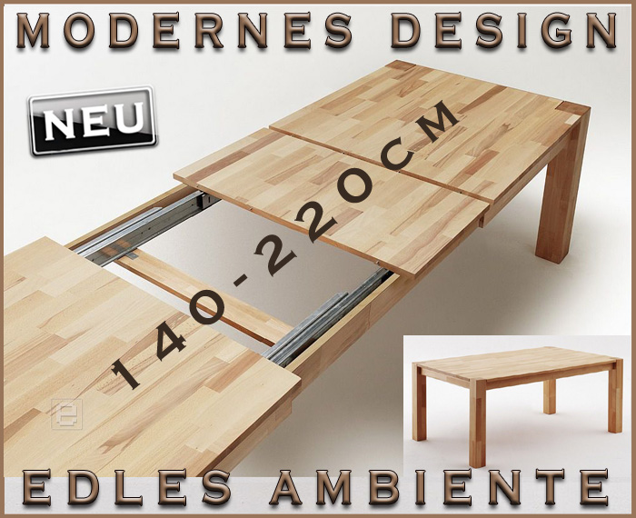 Massivholz ausziehtisch 220cm tisch ausziehbar kernbuche for Tisch iphone design