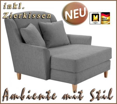 neu big sessel ohrensessel fernsehsessel in grau top ebay. Black Bedroom Furniture Sets. Home Design Ideas