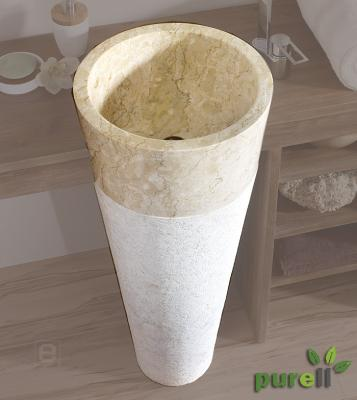 Neu edle badezimmer waschtisch s ule becken aus marmor ebay - Badezimmer becken ...