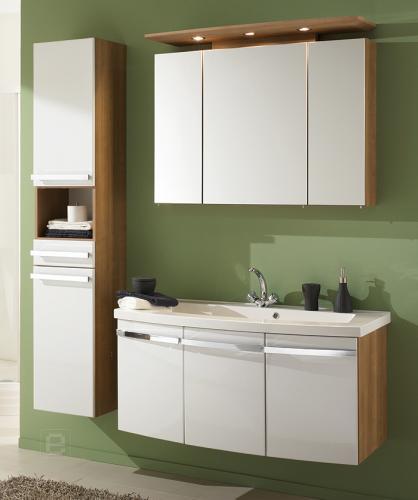 badm bel set hochglanz wei noce badezimmer waschplatz spiegelschrank ebay. Black Bedroom Furniture Sets. Home Design Ideas