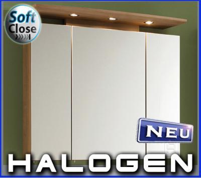 NEU* Badezimmer Halogen 3D Spiegelschrank Noce Nb.80cm | eBay