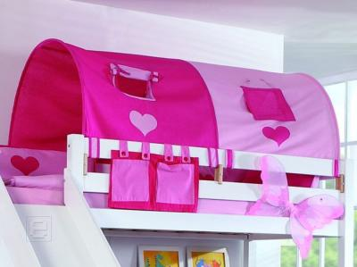 neu 2er tunnel f r kinderbett hochbett spielbett von relita in pink rosa ebay. Black Bedroom Furniture Sets. Home Design Ideas