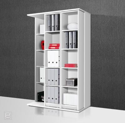 neu schieberegal aktenregal b ro regal mit schiebeelement b rom bel in wei. Black Bedroom Furniture Sets. Home Design Ideas