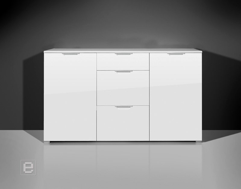 neu moderne kommode hochglanz wei sideboard anrichte flurm bel dielenschrank ebay. Black Bedroom Furniture Sets. Home Design Ideas