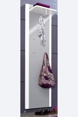 neu hochglanz flur garderobe wandgarderobe garderobenpaneel paneel in wei grau ebay. Black Bedroom Furniture Sets. Home Design Ideas