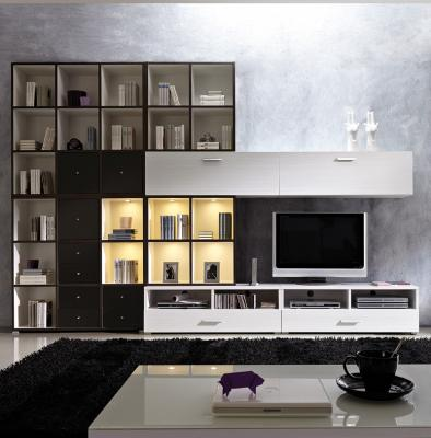 neuheit design wohnzimmer wohnwand anbauwand anthrazit wei led schrankwand ebay. Black Bedroom Furniture Sets. Home Design Ideas