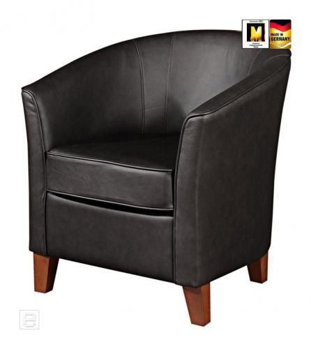 neu exclusiver echt leder cocktailsessel loungesessel sessel clubsessel schwarz ebay. Black Bedroom Furniture Sets. Home Design Ideas