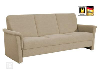 neu 3 sitzer sofa couch flachgewebe in sand 3er sofa polstercouch federkern ebay. Black Bedroom Furniture Sets. Home Design Ideas