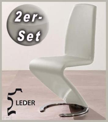 neu 2er set design freischwinger echt leder wei. Black Bedroom Furniture Sets. Home Design Ideas