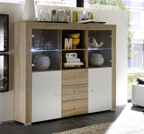 wow highboard sideboard buffet vorratsschrank. Black Bedroom Furniture Sets. Home Design Ideas