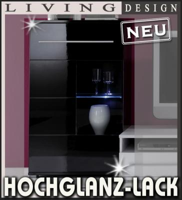 neu hochglanz vitrine lack schwarz standvitrine h ngevitrine vitrinenschrank ebay. Black Bedroom Furniture Sets. Home Design Ideas