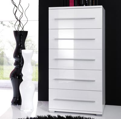 neu design hochglanz kommode lack weiss anrichte schubladenkommode highboard ebay. Black Bedroom Furniture Sets. Home Design Ideas