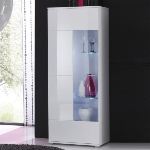 top moderne hochglanz vitrine in lack weiss standvitrine vitrinenschrank neu ebay. Black Bedroom Furniture Sets. Home Design Ideas