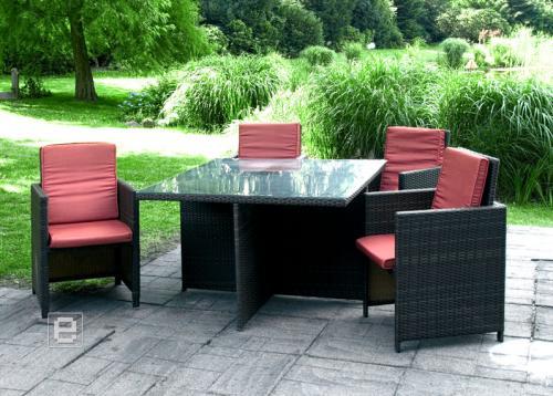 5tlg garten rattan sitzgruppe sessel glastisch lounge garnitur klappbar ebay. Black Bedroom Furniture Sets. Home Design Ideas