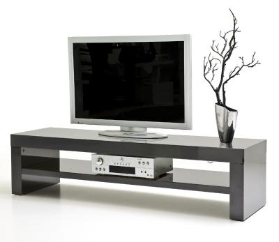 tv schrank lowboard sideboard tisch m bel board huron wei matt grau hochglanz smash. Black Bedroom Furniture Sets. Home Design Ideas