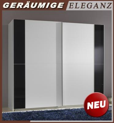 neu schlafzimmerschrank schwebet renschrank wei glas grau kleiderschrank 179cm ebay. Black Bedroom Furniture Sets. Home Design Ideas