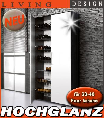 neu mega hochglanz schuhschrank f r 30 40 paar flurschrank mehrzweckschrank ebay. Black Bedroom Furniture Sets. Home Design Ideas