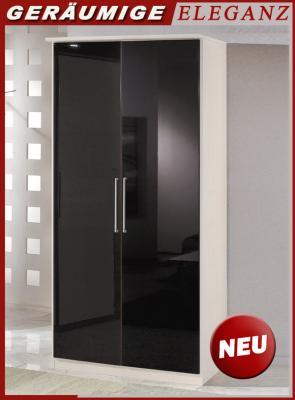 Neu 90cm schlafzimmerschrank perlglanz schwarz wei - Schlafzimmerschrank schwarz ...