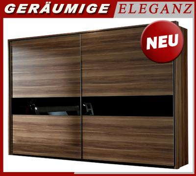 neu 304cm schlafzimmerschrank schwebet ren nussbaum. Black Bedroom Furniture Sets. Home Design Ideas