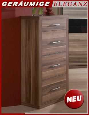 neu hochkommode highboard schlafzimmer kommode sideboard anrichte nussbaum nb ebay. Black Bedroom Furniture Sets. Home Design Ideas