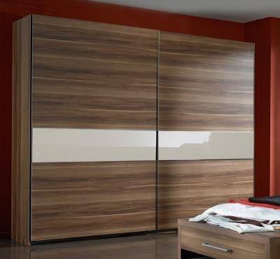 top schwebet renschrank kleiderschrank schlafzimmer 250cm breit nussbaum creme ebay. Black Bedroom Furniture Sets. Home Design Ideas