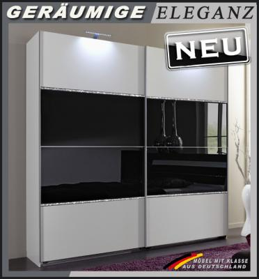neu 180cm schwebet renschrank weiss schwarz mit strasskristall kleiderschrank ebay. Black Bedroom Furniture Sets. Home Design Ideas