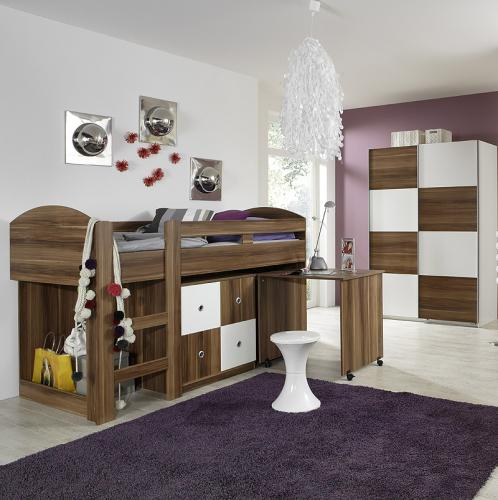 top komplett jugendzimmer hochbett kleiderschrank. Black Bedroom Furniture Sets. Home Design Ideas