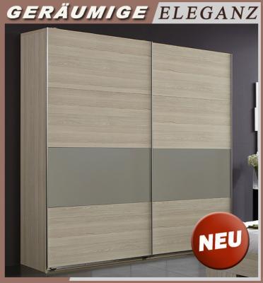 NEU* 180cm Kleiderschrank Esche Dekor - grau Schwebetüren Schrank ...