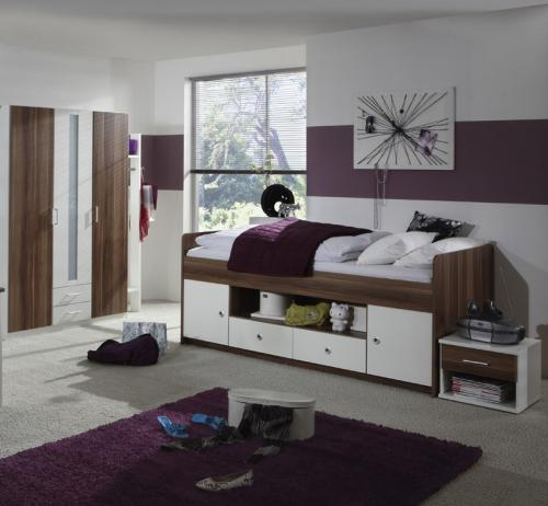 top komplett jugendzimmer bett 90x200cm kleiderschrank. Black Bedroom Furniture Sets. Home Design Ideas