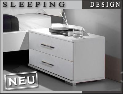 neu nachttisch kommode in weiss anrichte schubkastenkommode schlafzimmer ebay. Black Bedroom Furniture Sets. Home Design Ideas