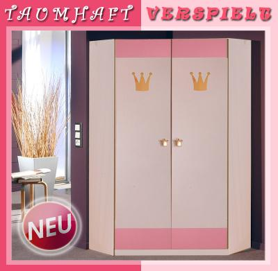 neu babyzimmer kinderzimmer eck kleiderschrank eckschrank 95cm in wei ros ebay. Black Bedroom Furniture Sets. Home Design Ideas