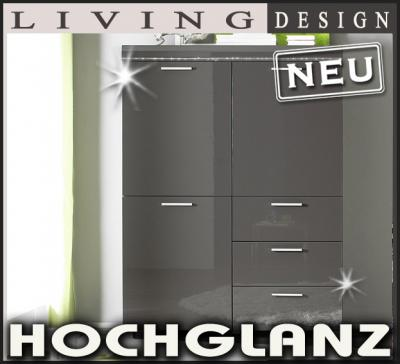 neu highboard hochglanz anthrazit swarovski elements. Black Bedroom Furniture Sets. Home Design Ideas