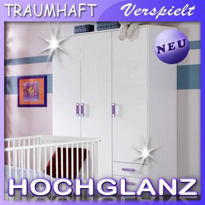 neu* babyzimmer kleiderschrank in weiß hochglanz kinderzimmer