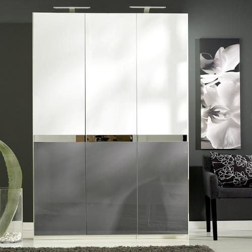 Ikea Kleiderschrank Hochglanz Weiss ~ Schlafzimmer Weiß Grau Schlafzimmer weiß grau kleiderschrank