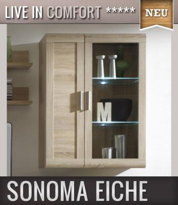 neu moderne h ngevitrine sonoma eiche dekor wohnwand. Black Bedroom Furniture Sets. Home Design Ideas