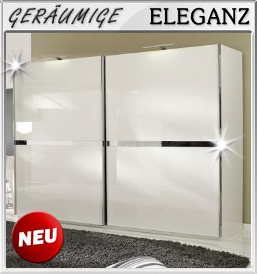 NEU* 250cm Schlafzimmer Kleiderschrank Schwebetüren in Hochglanz ...