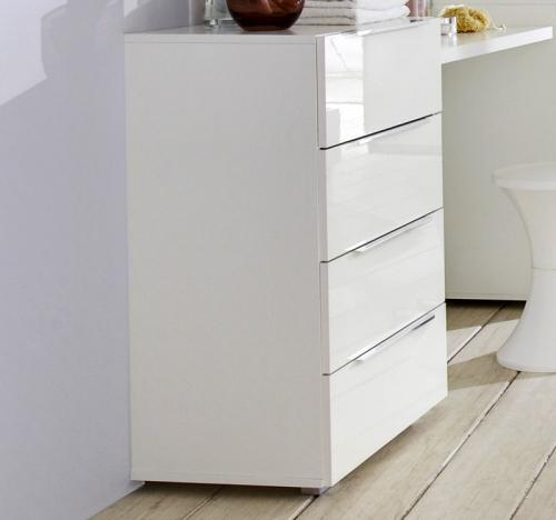 neu hochglanz sideboard weiss anrichte kombikommode schlafzimmer kommode ebay. Black Bedroom Furniture Sets. Home Design Ideas