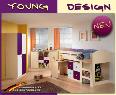 Neu komplett jugendzimmer hochbett kleiderschrank for Jugendzimmer komplett mit hochbett