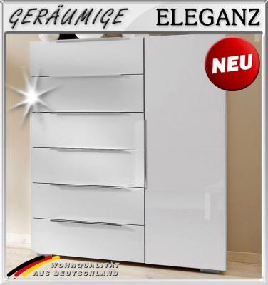neu kommode hochglanz weiss anrichte kombikommode schlafzimmer sideboard ebay. Black Bedroom Furniture Sets. Home Design Ideas