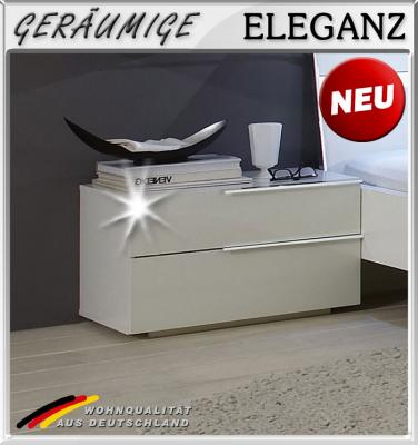 neu nachttisch in hochglanz weiss schlafzimmer. Black Bedroom Furniture Sets. Home Design Ideas