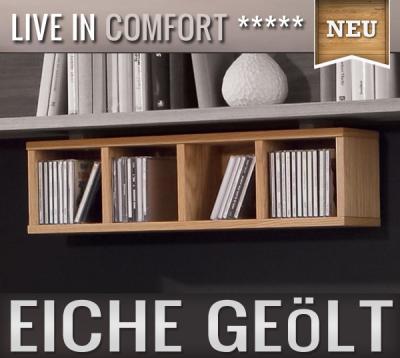 ... NEU CD Regal Wandboard Eiche Furniert Wohnwand Regal