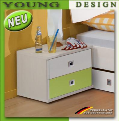 Neu jugendzimmer nachtschrank in alpinwei apfelgr n for Kinderzimmer nachttisch