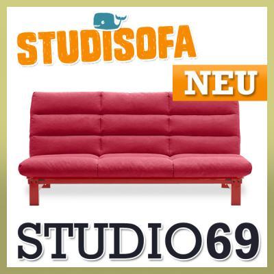 Neu rote klappcouch futon funktionssofa schlafsofa for Rotes schlafsofa